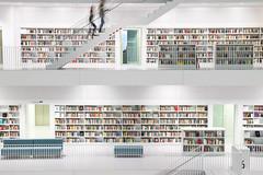 Library Stuttgart (bomme) Tags: stuttgart bibliothek architektur highkey langebelichtung