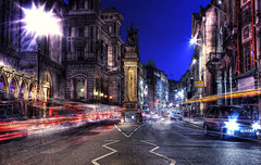 Fleet Street (Anatoleya) Tags: street 3 london st night canon evening long exposure traffic mark iii le 5d fleet hdr 5d3 anatoleya