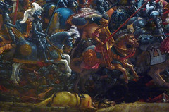 Altdorfer, The Battle of Issus, detail with knights