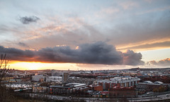 The Soundless Dawn Came Alive as Cities Began to Mark the Horizon (xibalbax) Tags: city sunset sky cloud skyline clouds canon sweden gothenburg 7d 1755mm canoneos7d