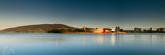 National Museum of Australia (sachman75) Tags: city longexposure morning lake building water architecture sunrise reflections landscape pano panoramic canberra blackmountain act telstratower australiancapitalterritory lakeburleygriffin capitalcity nationalmuseumofaustralia leefilters sigma50mmf14 canon5dmarkii bigstopper ndgrad3stops