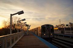 CTA Bombardier #5066 Entering Indiana Station (mrsimpilot) Tags: chicago cta greenline bombardier chicagotransitauthority 5000series indianastation