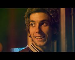 I'm no teenage icon (Kris *) Tags: autumn light boy portrait man film luz night canon amigo 50mm noche october friend gorro retrato adolescente 14 icon otoo octubre chico icono hombre 2012 teenage csar pelcula 50d xkrysx