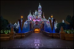 Frozen Beauty (Coasterluver) Tags: castle night dark lights disneyland empty disney led hdr sleepingbeautycastle sleepingbeautywintercastle andrewkirby coasterluver