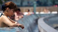 Stay Over at Marina Bay Sands - Pretty Japanese Girl in the Infinity Pool (2012:223) (Moonie's World) Tags: hotel singapore casino swimmingpool infinitypool marinabay marinabaysands lumixgvario100300f4056