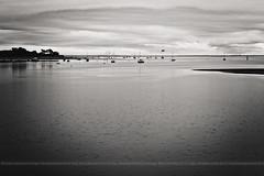 Bassin d'Arcachon (Francoise Rachez (Away) {www.francoiserachez.com}) Tags: sky blackandwhite france blancoynegro fog clouds landscape bay noiretblanc getty niebla brouillard brume gettyimages gironde gettyimagesfrance