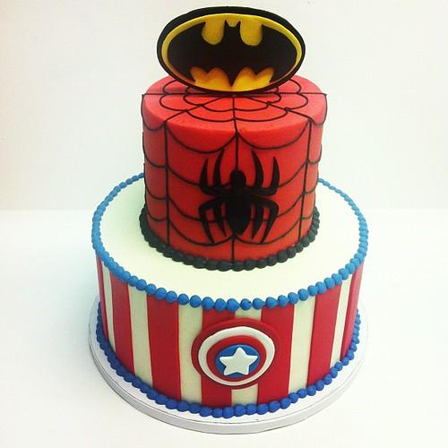 Superhero birthday cake #austin #customcake #birthday #superhero #polkadotscupcakefactory