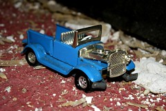 (Blurry Pixels) Tags: blue truck toy summer2012