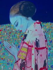 Preghiera / The prayer (fioresoleil) Tags: mostra donna mani explore fiori viso vetro forl dipinto famoso chignon riproduzione vestito felicecasorati museisdomenico