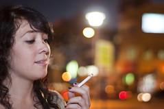 Cigarette (Javier Miranda Nieto) Tags: girl out de wanda focus chica bokeh cigarette smoke fumar humo cigarro vicio arca foco fuera cigarrillo