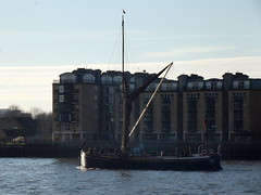 Thames Sailing Barge lady daphne /02/12/2012/ (philip bisset) Tags: england london thames river united kingdom wharf greater canary westferry thamessailingbarge ladydaphne