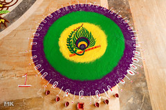 Diwali Rangoli 1 (Muslim Kapasi) Tags: india art beautiful festival circle flickr colours floor sale drawing circles culture peacock celebration round bombay getty colourful draw tradition diwali mumbai sell hindu celebrate kolam rangoli gulal
