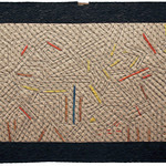 """<b>Between the Clock and the Bed, 1982-83 (after: Jasper Johns)</b><br/> Rebecca Kamm (Art Quilt, 2011)<a href=""""http://farm9.static.flickr.com/8210/8241633895_bce4f0c5df_o.jpg"""" title=""""High res"""">∝</a>"""