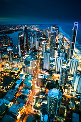 ground disco (Kash Khastoui) Tags: city sunset gold coast paradise cityscape deck level queensland surfers scape kash q1 khashayar khastoui 77floor