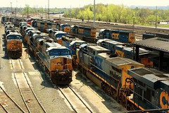 Plenty of CSX Power in New York (greenthumb_38) Tags: railroad yard train locomotive trainyard csx jeffreybass