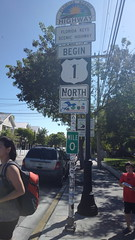 At the beginning. Mile marker 0 Rt 1 North Key West