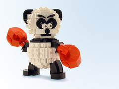 Boxing Panda (Legohaulic) Tags: animal lego boxing commission pandabear