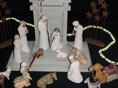 Nativity-Scene-Series (12) (Mr. Happy Face - Peace :)) Tags: christmas family pink blue red woman baby canada men art history love church glass animal animals composition joseph hope artwork colorful ceramics artist peace message christ display faith mary jesus joy creative belief craft happiness explore international displays slideshow joyful craftsman festivities figures scenes sculptures carvings worldpeace glasswork wisemen nativityscene seasongreetings firstborn jimmyb bibical mrhappyface artificalzoo christmas2012 biggestnativityscenedisplay