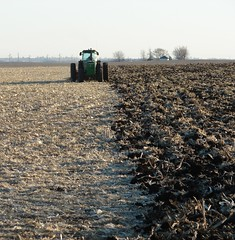 half plowed (David Sebben) Tags: tractor rural john iowa soil half farmer deere plowed