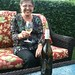 Jeri on patio - laughing