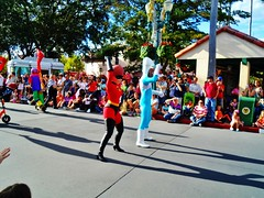 Pixar Parade (Elysia in Wonderland) Tags: world christmas usa holiday america lucy orlando florida disney parade hollywood pixar characters studios mrs incredible incredibles 2012 elastigirl elysia frozone