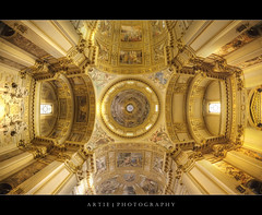Sant'Andrea della Valle, Rome, Italy :: HDR (Artie | Photography :: I'm a lazy boy :)) Tags: italy rome church architecture photoshop canon cathedral basilica decoration engineering structure symmetry fisheye dome handheld marble baroque fresco 15mm f28 ef hdr artie santeustachio cs3 santandrea 1650 3xp photomatix santandreadellavalle tonemapping tonemap 5dmarkii 5dm2