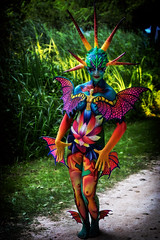 Water Demon (Alex M. Wolf) Tags: bodypainting body painting paint bodyart wbf wbf2016 alexmwolf canon eos5dmkiii prtschach poertschach carinthia colors color art