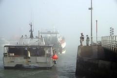 Ships are leaving the port (Knarfs1) Tags: harbour port hafen schiff nebel dust fog normandie portenbessin france mood fisherman boat ship