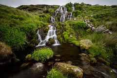 Waterfall near Loch Leathan (Forester__) Tags: longexposure skye green water grass river landscape scotland waterfall rocks isleofskye hills rainy lee lush ndfilter gnd
