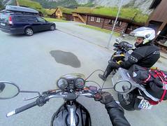 Pitstop at Valle. (topzdk) Tags: norway mc motorcycle honda bmw summer 2016 motorcycleride rysstad brokke