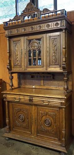 Fancy English Oak 2 Piece Court Cupboard ($504.00)
