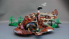 Steamwars - Steampunk Slave I (1) (adde51) Tags: adde51 lego moc steampunk starwars steamwars star wars boba fett slave i slavei slave1