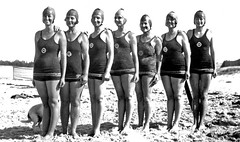 Life Saving Squad, Mooloolaba, January 1931 (Queensland State Archives) Tags: mooloolaba queensland qsa beach life saving costume swimming fashion