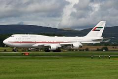 A6-HRM GLA 22-8-2016 (2) (Plane Buddy) Tags: a6hrm boeing 747 747400 uae dubai glasgow egpf