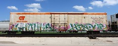 Ghouls/Hindue (quiet-silence) Tags: graffiti graff freight fr8 train railroad railcar art ghouls hindue gtb d30 a2m cryx cryo cryotrans reefer cryx5277