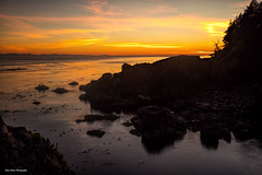 Quiet Hour (photobydave@gmail.com) Tags: straitsofjuandefuca juandefuca pacificnorthwest sheringhampoint shirley vancouverisland britishcolumbia canada sunset pacificocean seascape landscape earlyeveningsky coastline shoreline