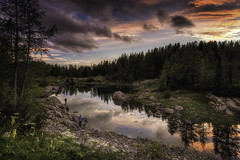 Perfect light, perfect place... (Croosterpix) Tags: triglav slovenia landscape nature sunset lake clouds alps nikond610 nikkor1835 croosterpix