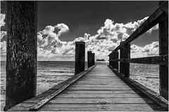 take me away (ingrid.lowis) Tags: föhr monochrom wattenmeer sky wolken bw föhr2016