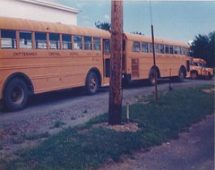 Chittenango, NY Central School buses Nos. 83 & 84- 1973 Carpenter Corsair-GMC RM7500 chassis (JMK40) Tags: gmc carpenter corsair 432 v6 schoolbus chittenango ny