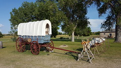 Old conestoga wagon at Fort Laramie NHS