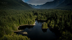 Rice Lake - Drone View (Photo Alan) Tags: drone dajiangdrone ricelake northvancouver bc canada outdoor lake water mountain green forest viewfromabout landscape island