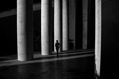 solitary man (s@brina) Tags: man light shadow architecture alone silhouette