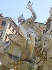 Bernini's Fontana dei Quattro Fiumi or Fountain of the Four Rivers  h (litlesam1) Tags: italy rome soloromejuly2016 july2016 fountains