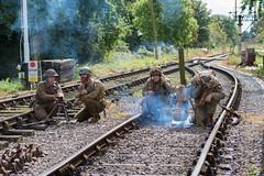 DSC_6735.jpg (john_spreadbury) Tags: ww2 mortar gi homeguard german blacknwhite johnspreadbury reenactment group rifle machinegun stengun cricklade swindon railway troops army english americans uniforms smoke wartime soldiers british