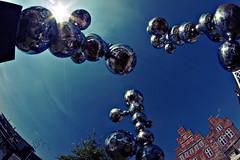 Perlen im Wind (densenato) Tags: matthiasrachel trave travemnde samyang 8mm sony alpha5000 a5000 fisheye walimex uww art kunstwerk skulptur