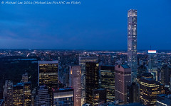 Low Light High ISO Test (DSC08321) (Michael.Lee.Pics.NYC) Tags: newyork topoftherock observatory 432parkavenue centralpark aerial cityscape architecture night twilight bluehour eastriver uppereastside queens sony a7rm2 fe2470mmgm
