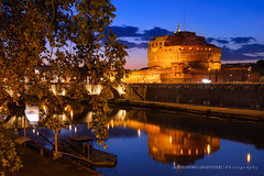 Roma - Castel Sant'Angelo (Alessandro Argentieri) Tags: night landscape sunset fiume rami water tevere roma italia panorama notte dusk rome crepuscolo tramonto sky vibrantcolor river tiber travel outdoors nightscape traveldestination castelsantangelo vacations italy