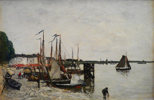 BOUDIN,1871,Port d'Anvers(Orsay)Totality-2277-