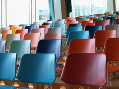 Colorful chairs (Long Sleeper) Tags: building museum kunsthal display chair chairs colorful window rotterdam holland thenetherlands lumixg425mmf17asph dmcgx1