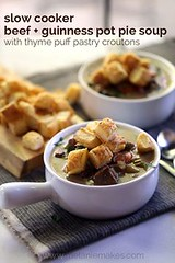 Comment on Slow Cook (alaridesign) Tags: comment slow cooker beef guinness pot pie soup with thyme puff pastry croutons by tery